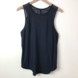 Lululemon Sculpt Mesh Cut Out Black Tank Top